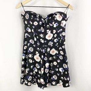 Guess Floral Sleeveless Romper Black Size 10